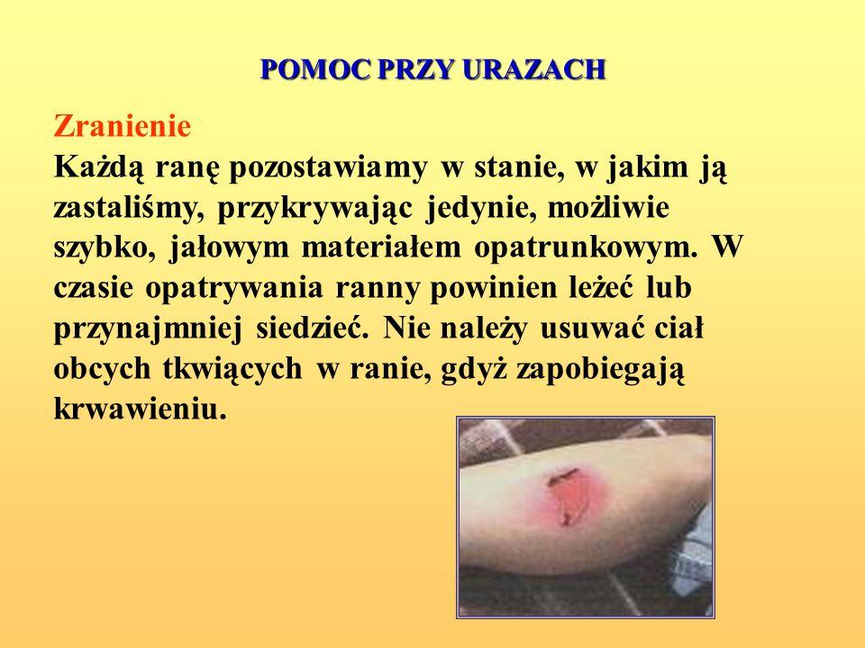 PAMIĘTAJ!!! Każdorazowo, gdy istnieje zagrożenie zdrowia i życia rannego, po wykonaniu czynności ratujących należy skorzystać z pomocy lekarskiej.