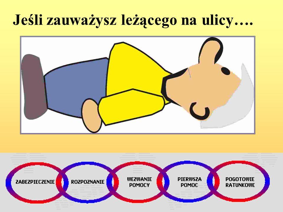 Udzielając pierwszej pomocy osobie poszkodowanej należy pamiętać również o aspekcie psychologicznym! Podstawowe zasady działania: Zachowaj spokój i op