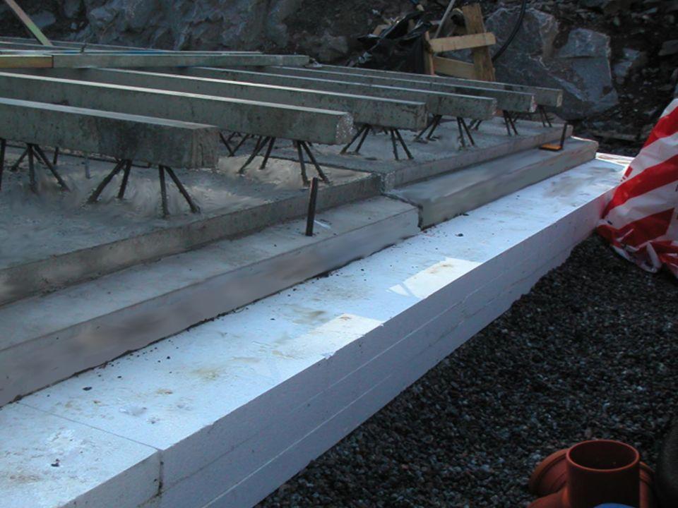 Upplag för betongvägg