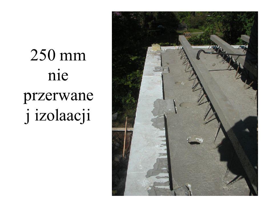 250 mm nie przerwane j izolaacji