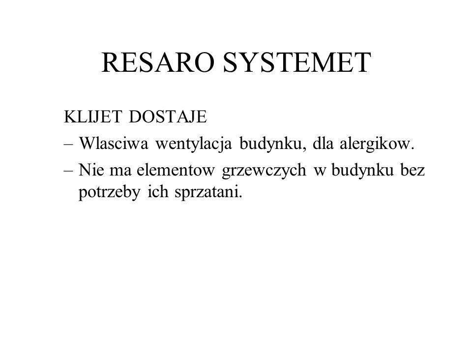 RESARO SYSTEMET KLIJET DOSTAJE –Wlasciwa wentylacja budynku, dla alergikow.