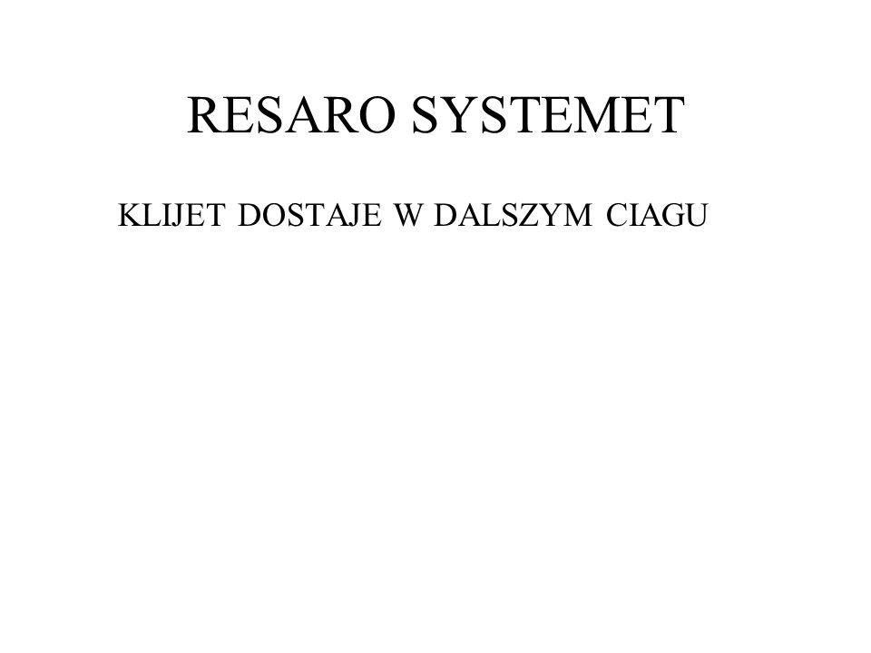 RESARO SYSTEMET KLIJET DOSTAJE W DALSZYM CIAGU