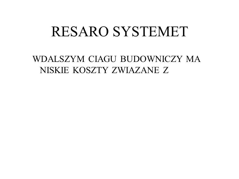 RESARO SYSTEMET WDALSZYM CIAGU BUDOWNICZY MA NISKIE KOSZTY ZWIAZANE Z