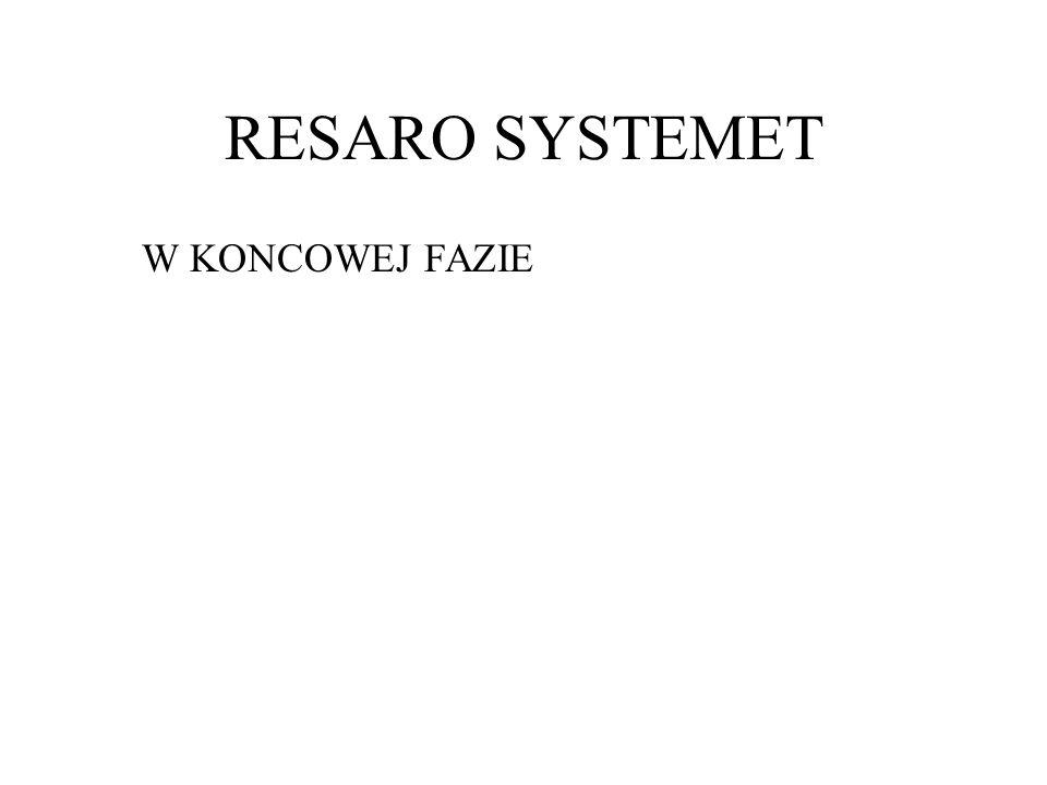 RESARO SYSTEMET W KONCOWEJ FAZIE