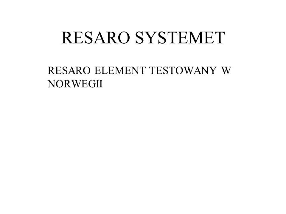 RESARO ELEMENT TESTOWANY W NORWEGII