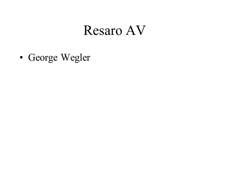 George Wegler Resaro AV