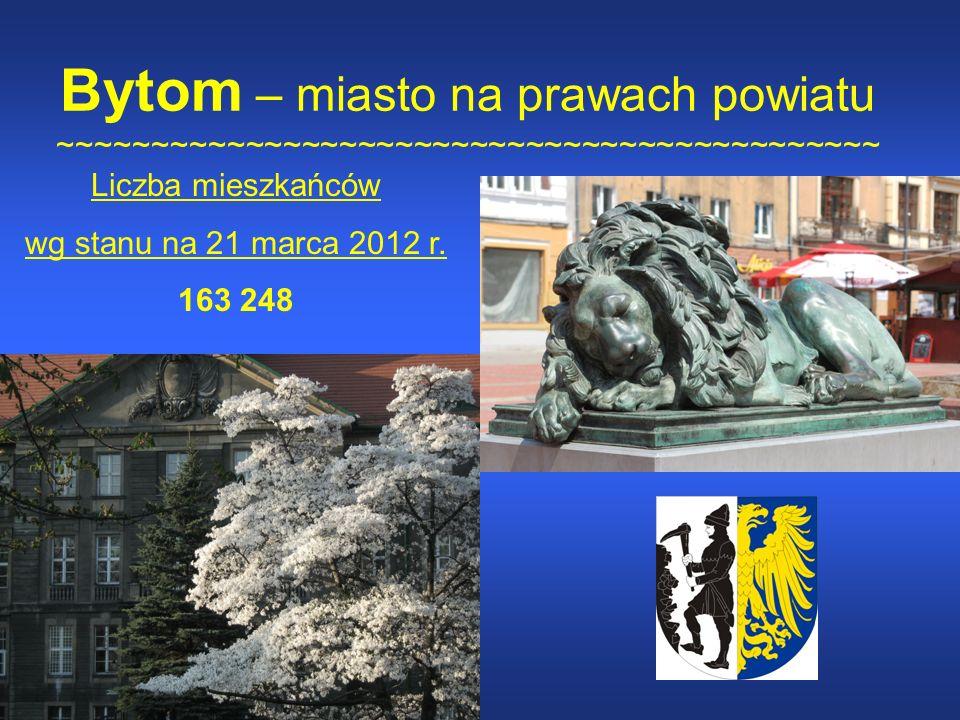 Bytom – miasto na prawach powiatu ~~~~~~~~~~~~~~~~~~~~~~~~~~~~~~~~~~~~~~~~~~~~ Liczba mieszkańców wg stanu na 21 marca 2012 r.