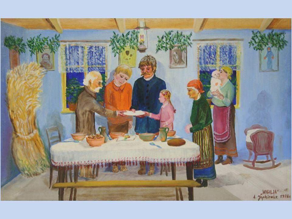 Na południu Polski kawałki opłatka wkładano pod naczynia z potrawami na stole wigilijnym. Przywarcie opłatka do dna miski wróżyło przyszłoroczny urodz