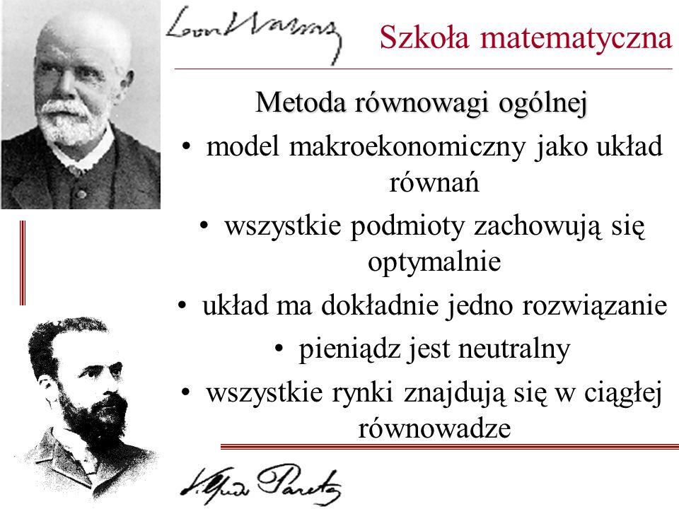 Szkoła matematyczna ________________________________________________________________________________________ Metoda równowagi ogólnej model makroekono