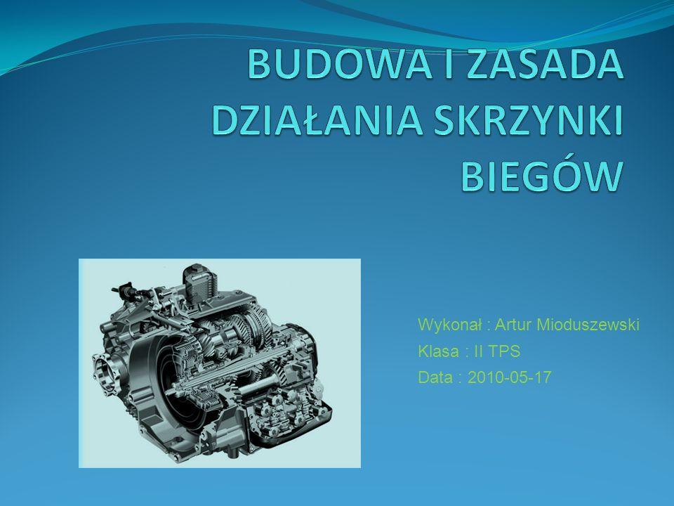 Wykonał : Artur Mioduszewski Klasa : II TPS Data : 2010-05-17