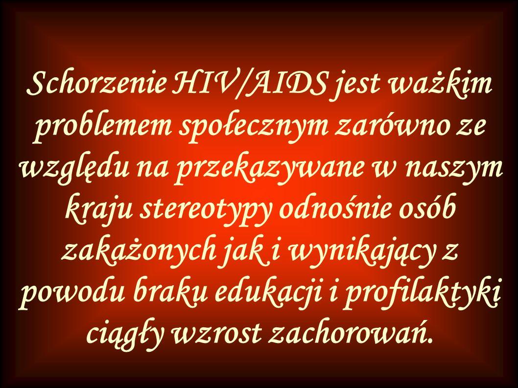 Schorzenie HIV/AIDS jest ważkim problemem społecznym zarówno ze względu na przekazywane w naszym kraju stereotypy odnośnie osób zakażonych jak i wynikający z powodu braku edukacji i profilaktyki ciągły wzrost zachorowań.
