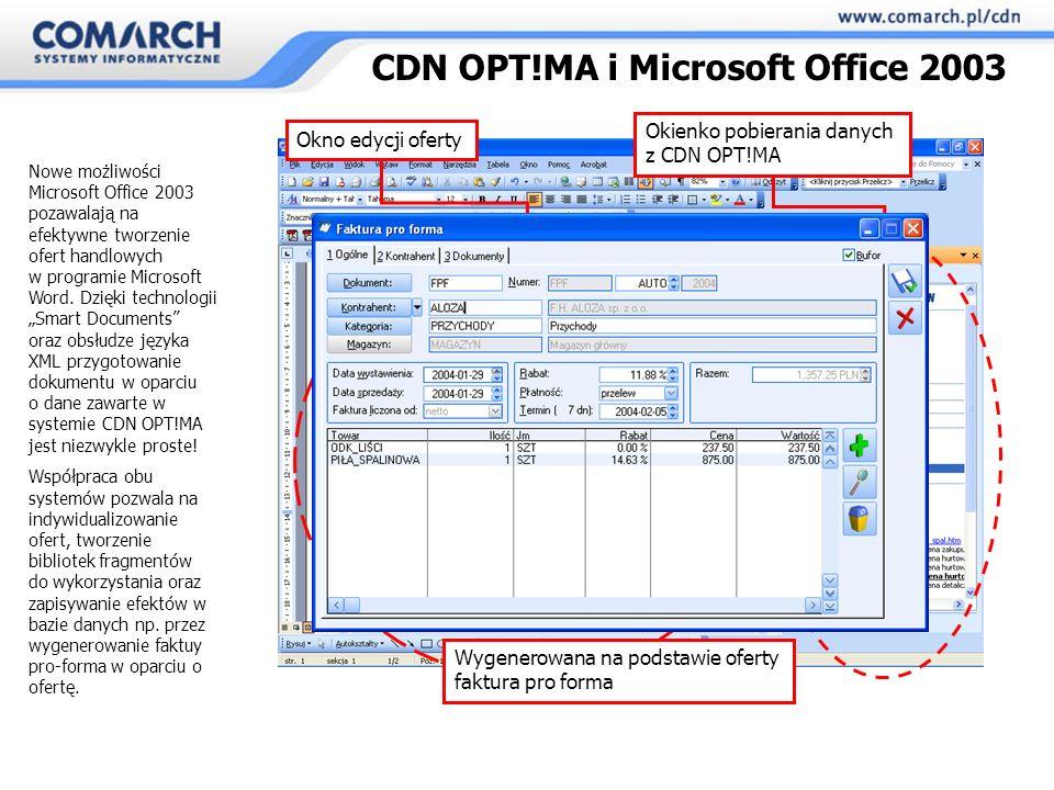 Nowe możliwości Microsoft Office 2003 pozawalają na efektywne tworzenie ofert handlowych w programie Microsoft Word.