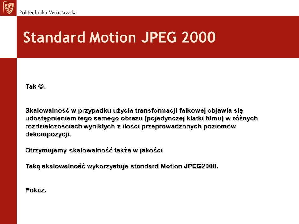 Standard Motion JPEG 2000 Tak.