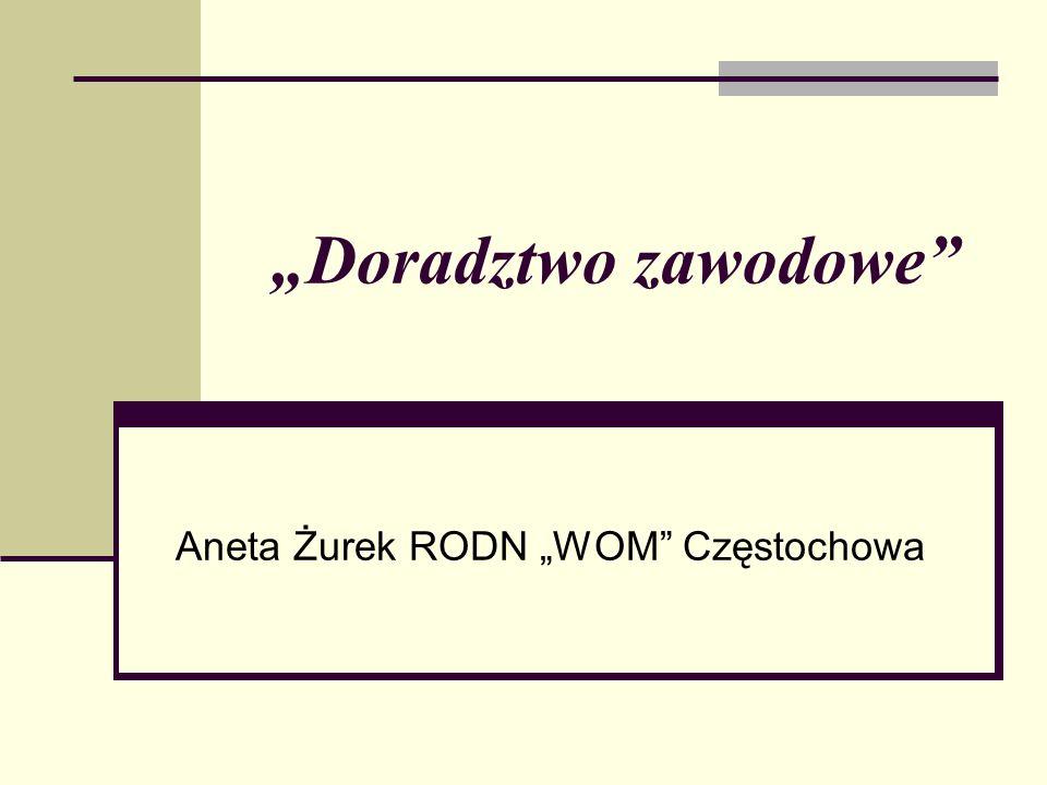 Doradztwo zawodowe Aneta Żurek RODN WOM Częstochowa