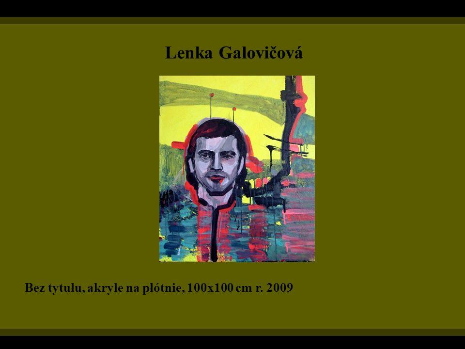 Lenka Galovičová Bez tytułu, akryle na płótnie, 100x100 cm r. 2009