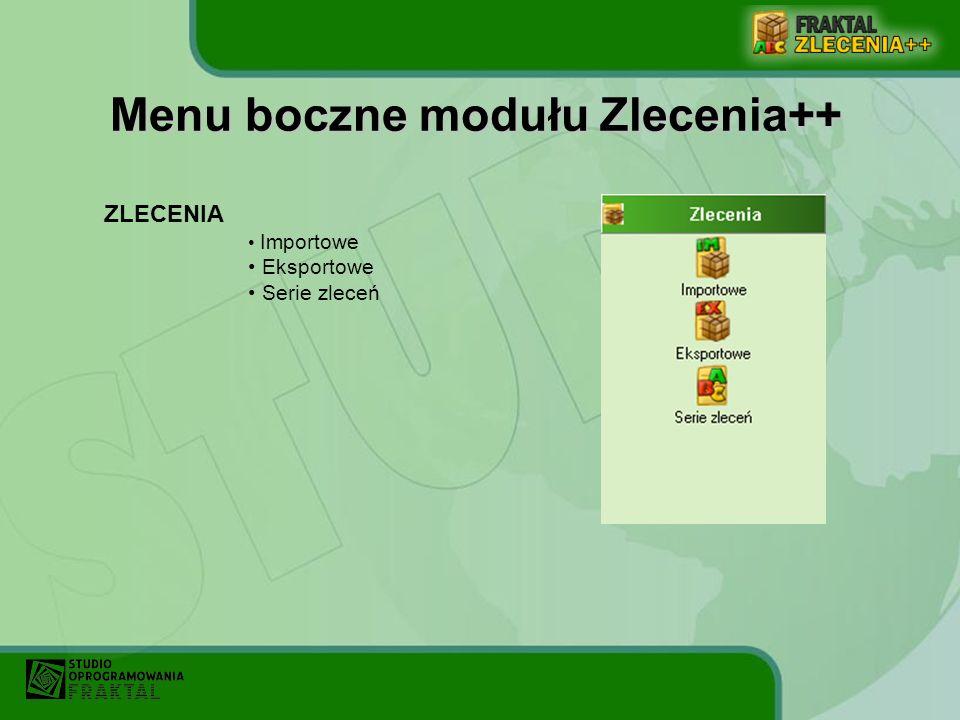 Menu górne w programie rozwija się po kliknięciu na dany element. Menu górne – elementy stałe