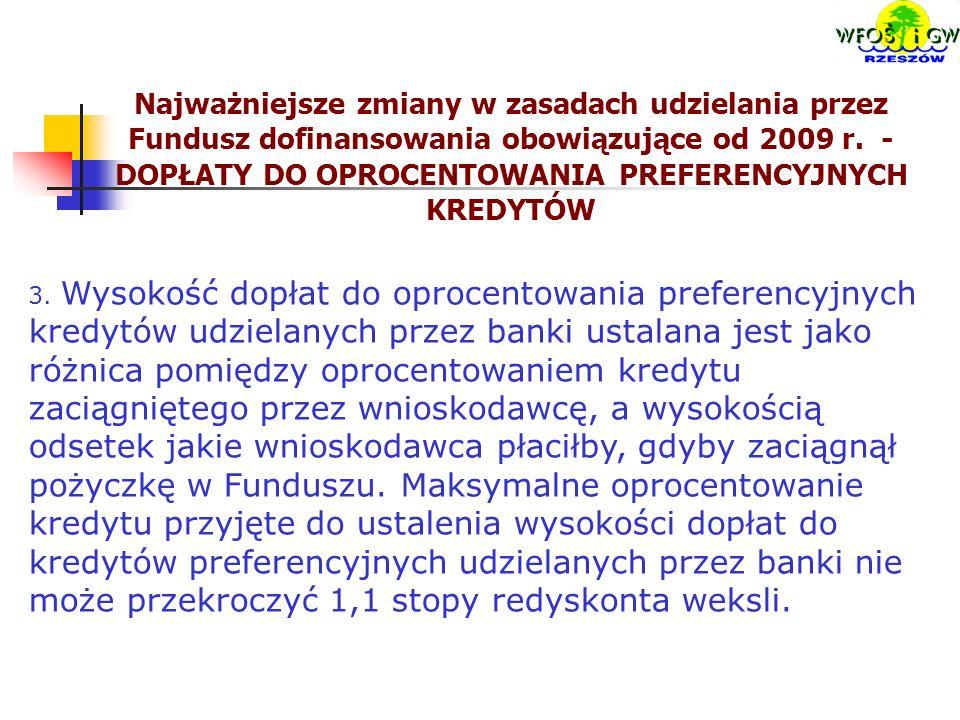 3. Wysokość dopłat do oprocentowania preferencyjnych kredytów udzielanych przez banki ustalana jest jako różnica pomiędzy oprocentowaniem kredytu zaci