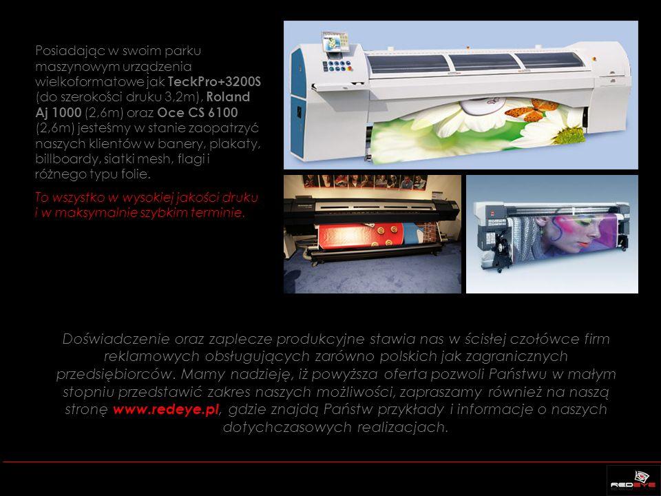 Doświadczenie oraz zaplecze produkcyjne stawia nas w ścisłej czołówce firm reklamowych obsługujących zarówno polskich jak zagranicznych przedsiębiorcó