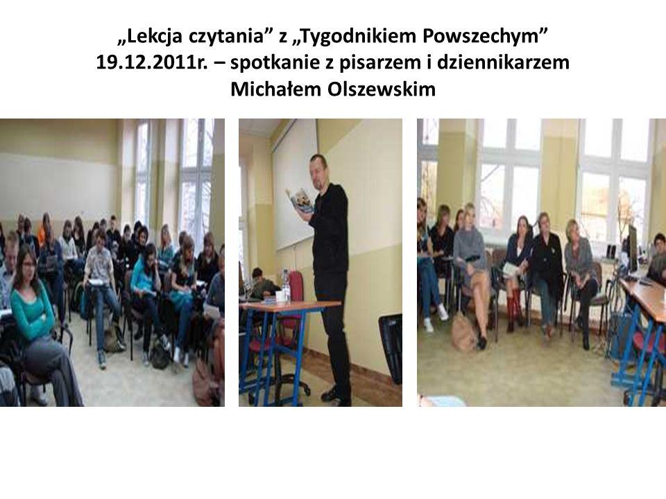 Lekcja czytania z Tygodnikiem Powszechym 19.12.2011r.