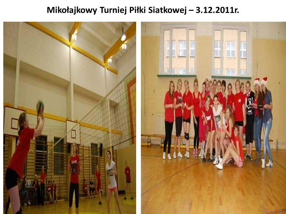 Mikołajkowy Turniej Piłki Siatkowej – 3.12.2011r.