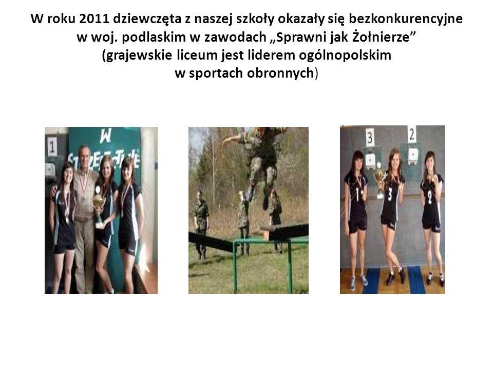 W roku 2011 dziewczęta z naszej szkoły okazały się bezkonkurencyjne w woj.