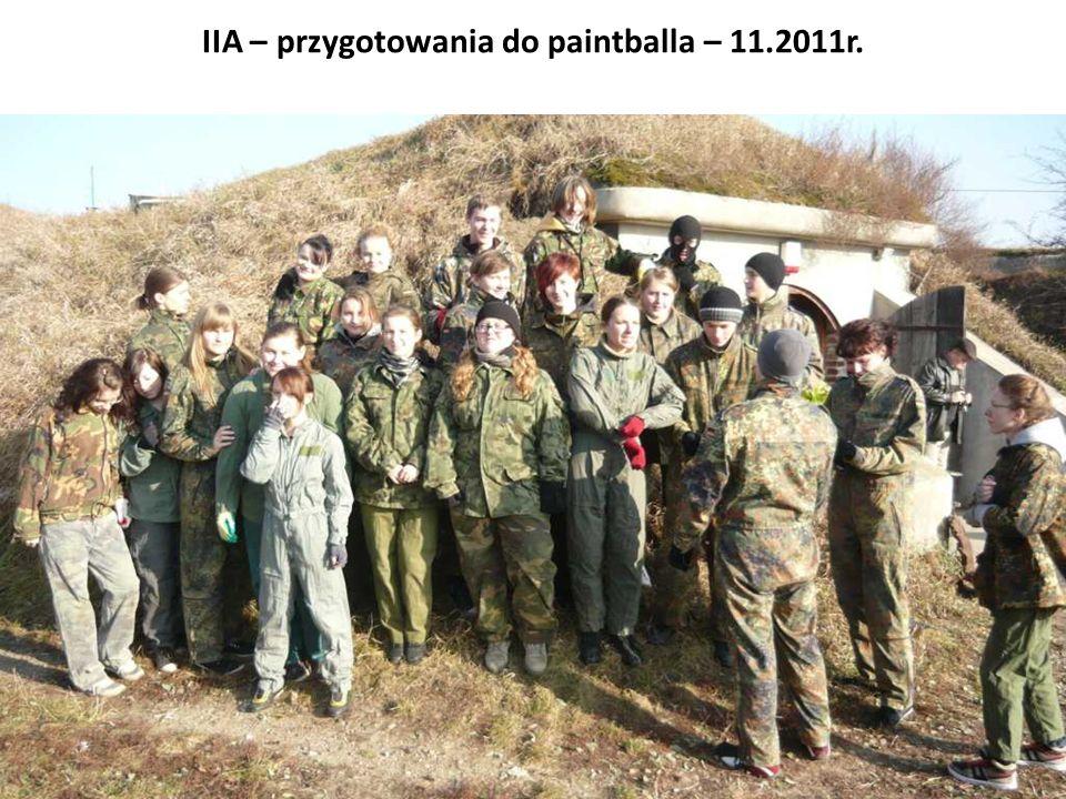 IIA – przygotowania do paintballa – 11.2011r.