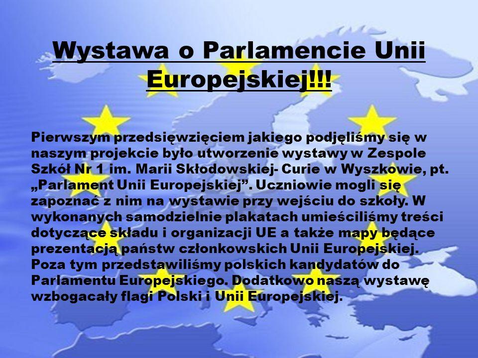 Wystawa o Parlamencie Unii Europejskiej!!.