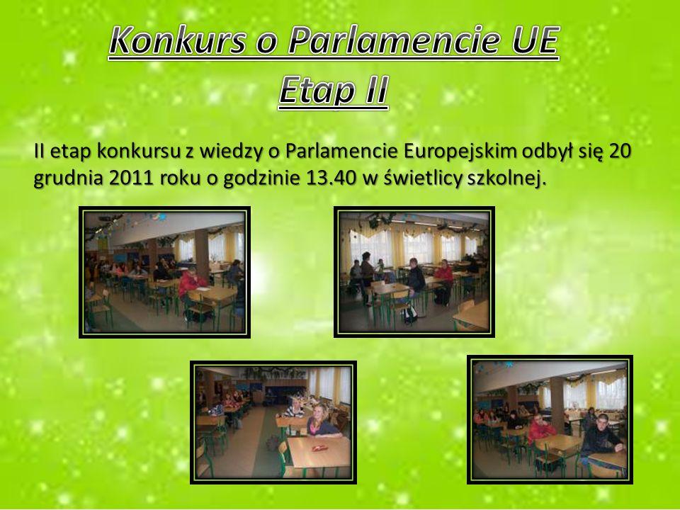 W dniach od 2 grudnia do 20 grudnia bieżącego roku w naszej szkole zostały przeprowadzone lekcje, które miały na celu poszerzenie wiadomości uczniów na temat Polskiej Prezydencji w Parlamencie Unii Europejskiej.