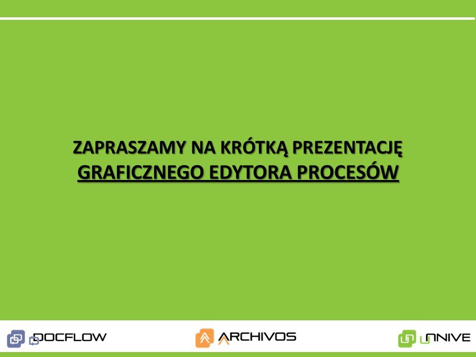 1. Obieg faktur kosztowych 2.Proces delegacji 3.Wnioski urlopowe 4.Procesowanie zamówień 5.Baza wiedzy 6.Zarządzanie projektami 7. Zarządzanie umowami