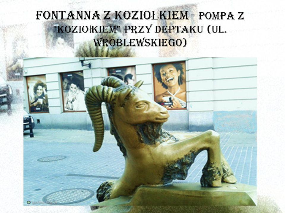 FONTANNA Z KOZIO Ł KIEM - pompa z kozio ł kiem przy deptaku (ul. Wróblewskiego)