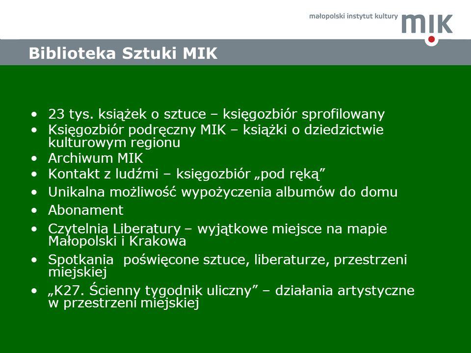 Biblioteka Sztuki MIK 23 tys.