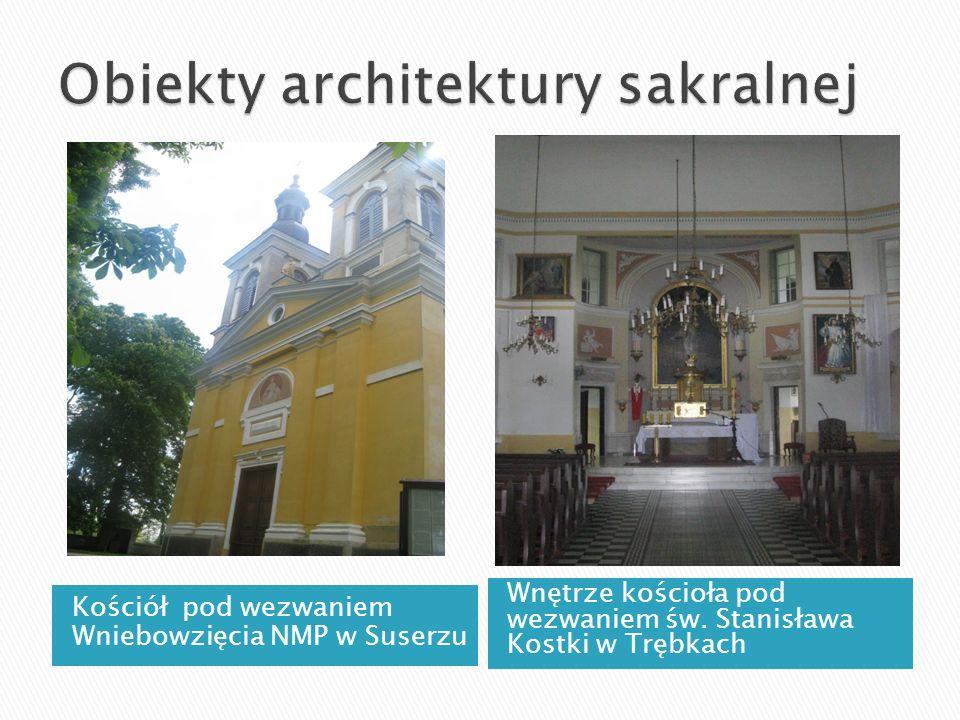 Kościół pod wezwaniem Wniebowzięcia NMP w Suserzu Wnętrze kościoła pod wezwaniem św. Stanisława Kostki w Trębkach