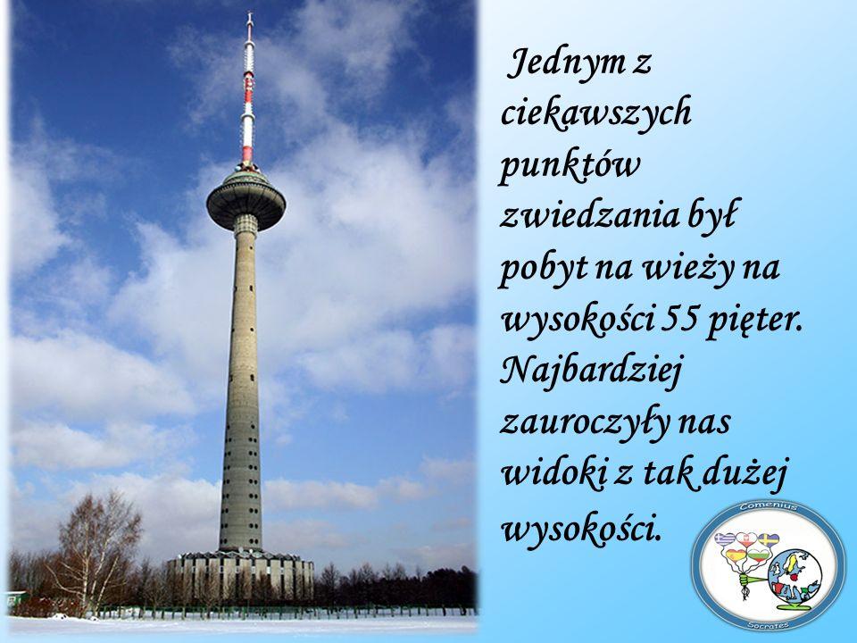 Jednym z ciekawszych punktów zwiedzania był pobyt na wieży na wysokości 55 pięter.
