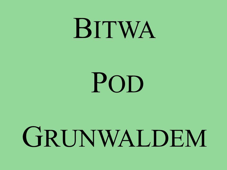 Źródła historyczne Wiadomości o bitwie pod wsią Grunwald pochodzą z różnych źródeł historycznych, polskich jak i krzyżackich.