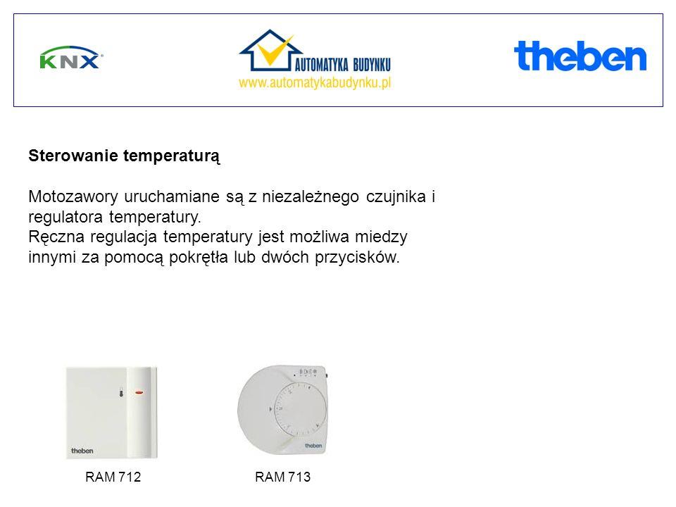 Sterowanie temperaturą Motozawory uruchamiane są z niezależnego czujnika i regulatora temperatury. Ręczna regulacja temperatury jest możliwa miedzy in