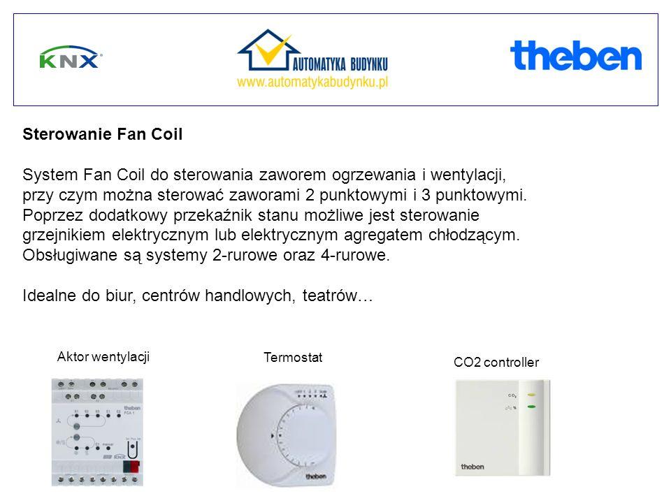 Sterowanie Fan Coil System Fan Coil do sterowania zaworem ogrzewania i wentylacji, przy czym można sterować zaworami 2 punktowymi i 3 punktowymi.