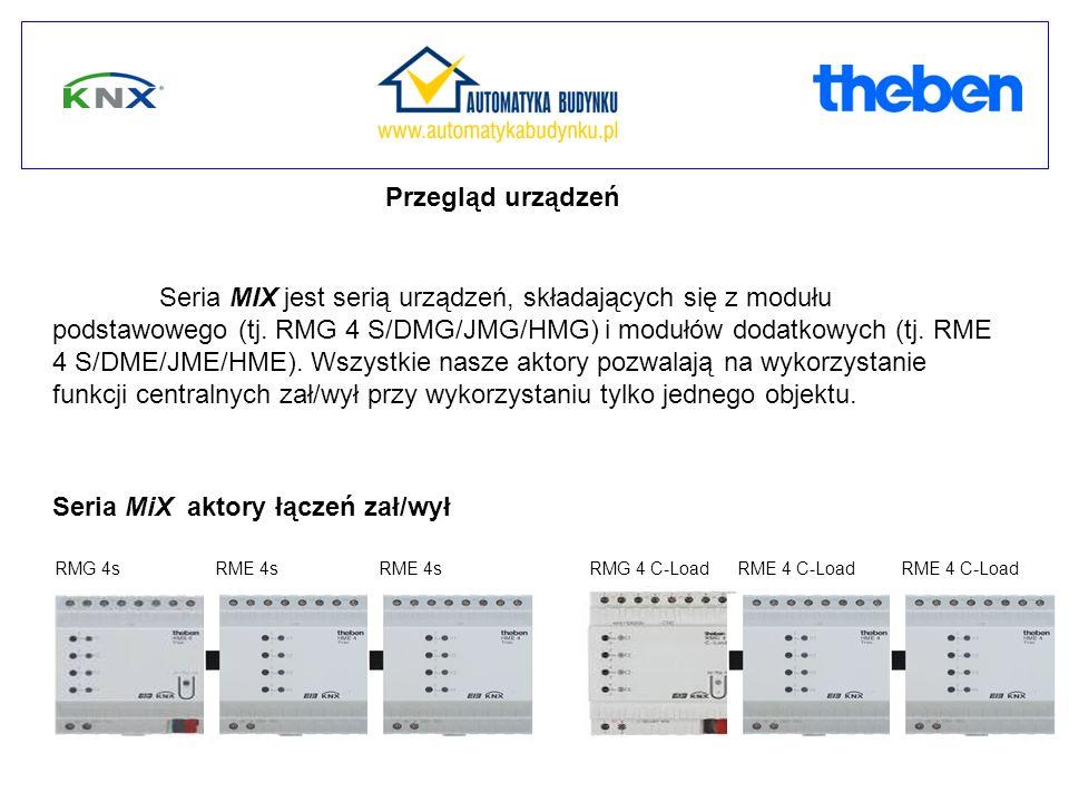 RMG 4s RME 4sRMG 4 C-LoadRME 4sRME 4 C-Load Seria MiX aktory łączeń zał/wył Seria MIX jest serią urządzeń, składających się z modułu podstawowego (tj.