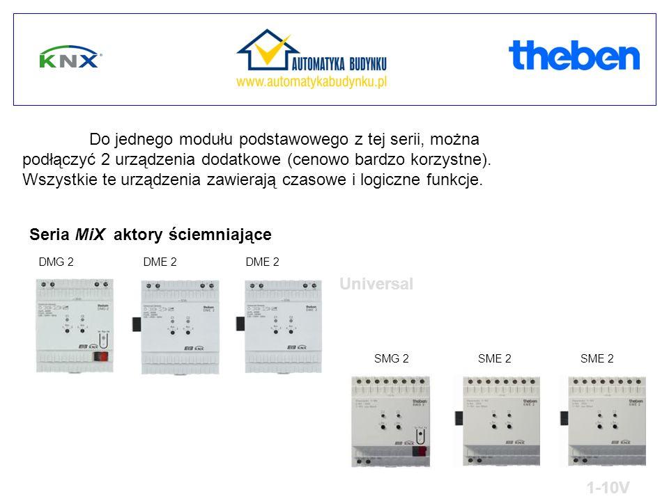Do jednego modułu podstawowego z tej serii, można podłączyć 2 urządzenia dodatkowe (cenowo bardzo korzystne).