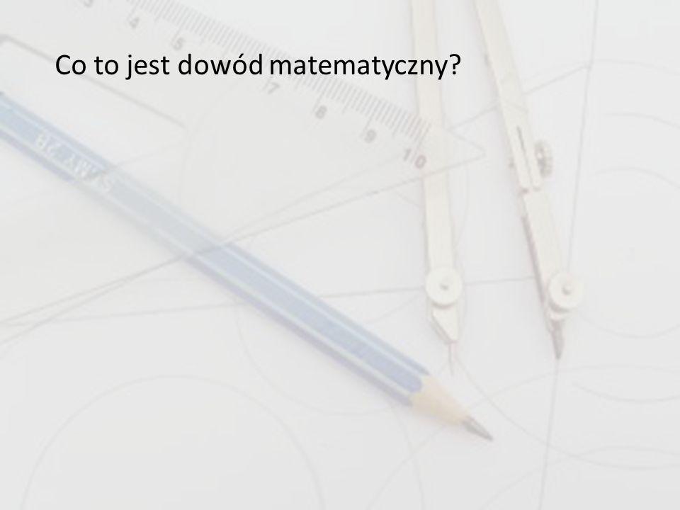 Co to jest dowód matematyczny?