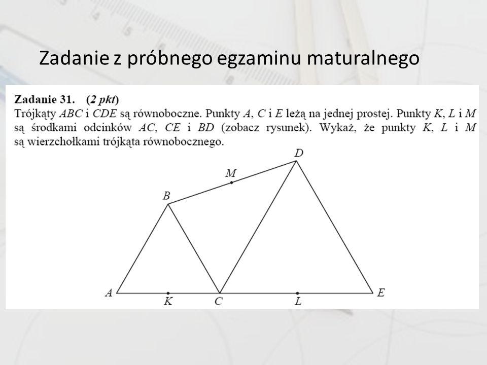 Zadanie z próbnego egzaminu maturalnego