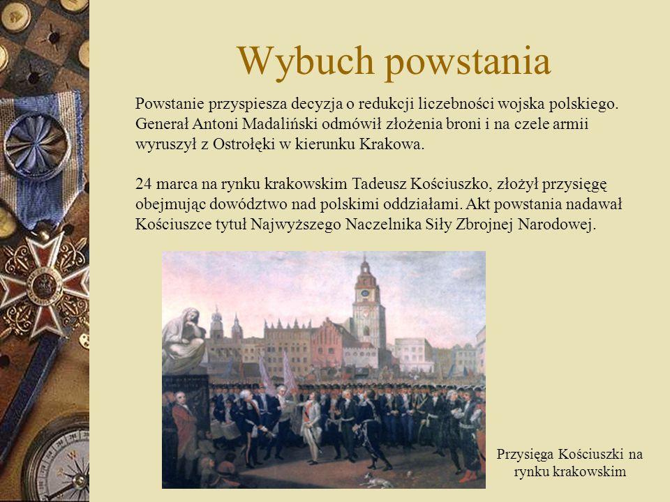 Racławice 4 kwietnia 1794 pod Racławicami wojska powstańcze pod wodzą Kościuszki stoczyły zwycięską bitwę z wojskami rosyjskimi dowodzonymi przez generała majora Denisowa.