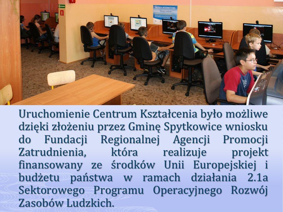 Projekt ma zasięg ogólnopolski, a jego celem jest wyrównanie szans mieszkańców w dostępie do Internetu, wyrównanie szans na rynku pracy oraz zwiększenie dostępności nowoczesnych form kształcenia poprzez: nieograniczony dostęp do zasobów Internetu, nieograniczony dostęp do zasobów Internetu, nieodpłatne szkolenia opracowane z myślą o osobach pracujących i pragnących podnieść swoje kwalifikacje zawodowe, planujących założyć własną działalność gospodarczą lub już ją prowadzących, nieodpłatne szkolenia opracowane z myślą o osobach pracujących i pragnących podnieść swoje kwalifikacje zawodowe, planujących założyć własną działalność gospodarczą lub już ją prowadzących, ułatwiony dostęp do różnorakich form samokształcenia na odległość, umożliwiający zdobycie wykształcenia bądź podniesienie kwalifikacji bez opuszczania miejsca zamieszkania, ułatwiony dostęp do różnorakich form samokształcenia na odległość, umożliwiający zdobycie wykształcenia bądź podniesienie kwalifikacji bez opuszczania miejsca zamieszkania, pomoc osoby prowadzącej Centrum w nauce obsługi komputera i w wyszukiwaniu atrakcyjnych dla użytkownika ofert edukacyjnych.