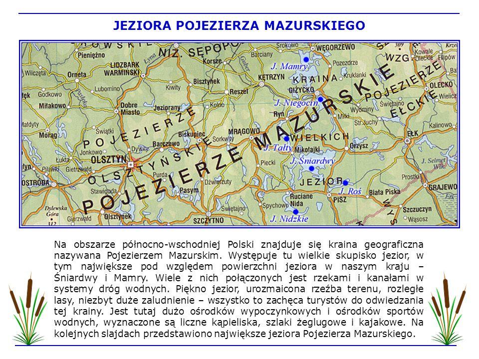 To największe jezioro w Polsce zajmuje powierzchnię 113,8 km 2.