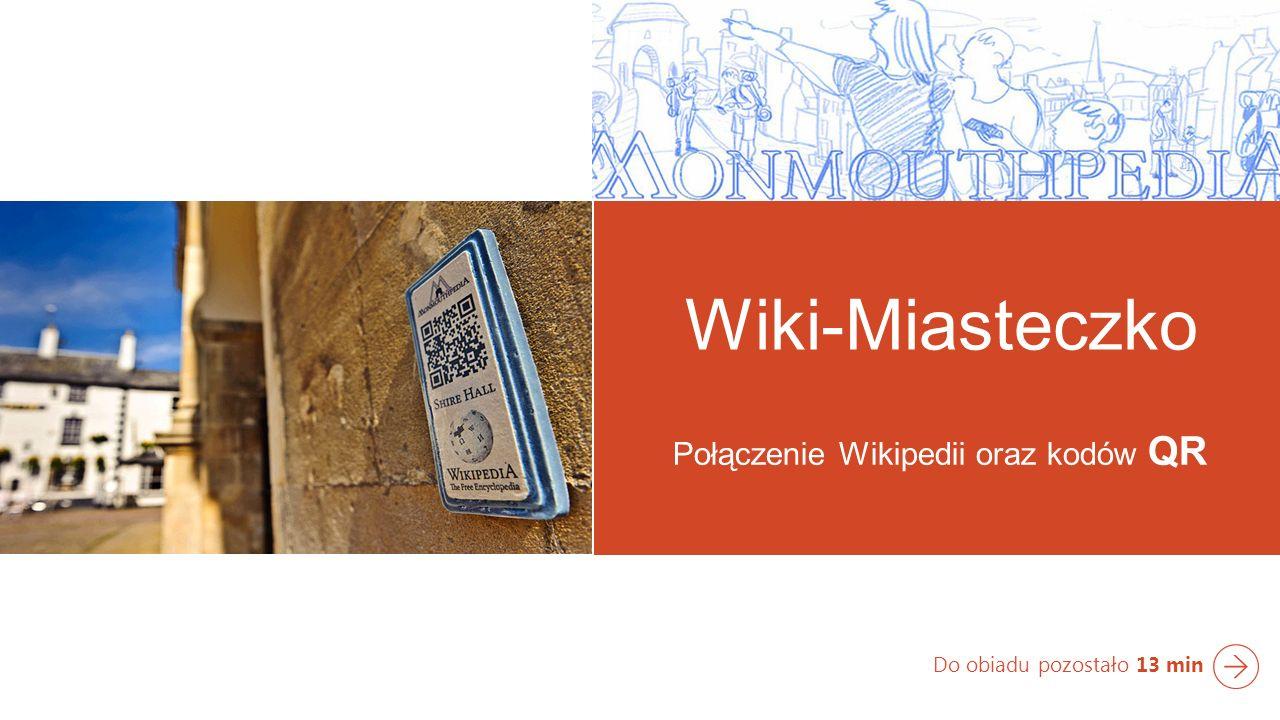 Połączenie Wikipedii oraz kodów QR Do obiadu pozostało 13 min Wiki-Miasteczko