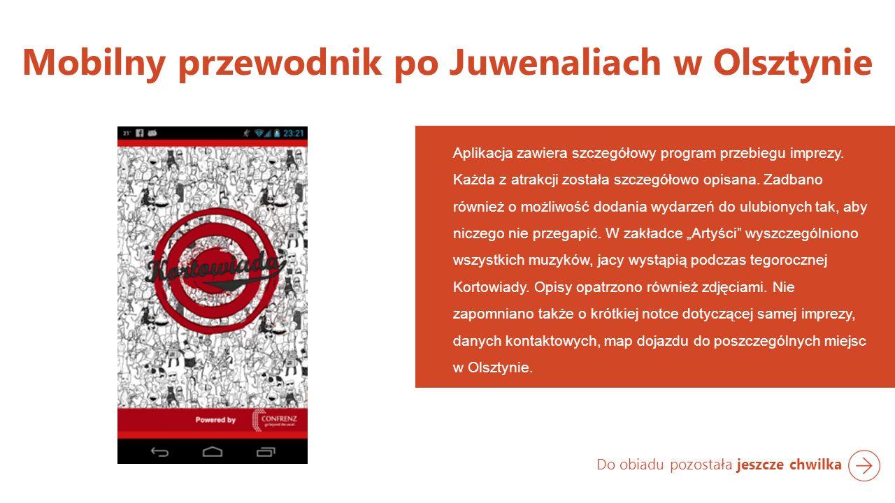 Aplikacja zawiera szczegółowy program przebiegu imprezy.