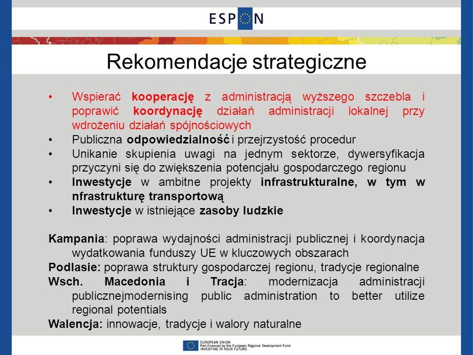 Rekomendacje strategiczne Wspierać kooperację z administracją wyższego szczebla i poprawić koordynację działań administracji lokalnej przy wdrożeniu d
