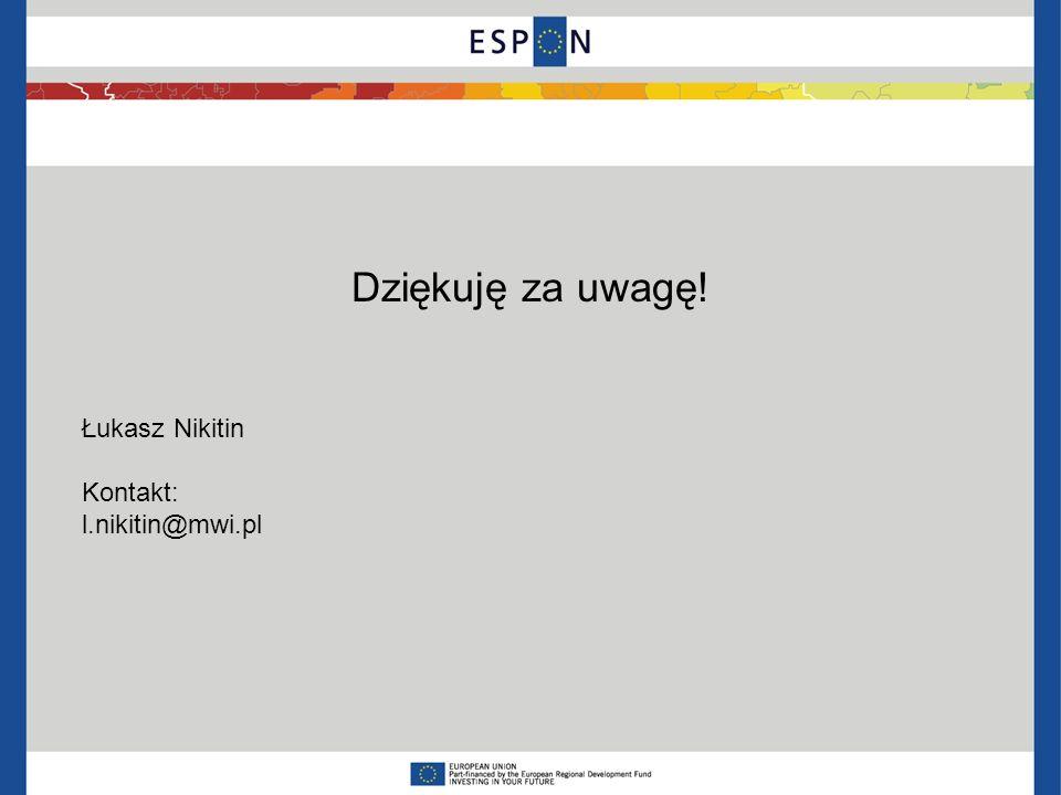 Łukasz Nikitin Kontakt: l.nikitin@mwi.pl Dziękuję za uwagę!
