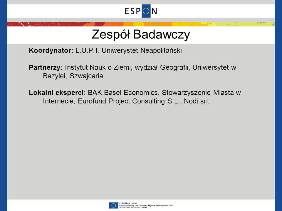 Zespół Badawczy Koordynator: L.U.P.T. Uniwerystet Neapolitański Partnerzy: Instytut Nauk o Ziemi, wydział Geografii, Uniwersytet w Bazylei, Szwajcaria