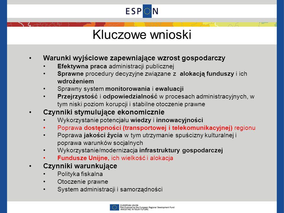 Wspólny temat badania Społeczeństwo informacyjne Dla 1995 – 2010 ICT => 50 % wzrostu produktywności gospodarki UE (Komisja Europejska, i2010, DAE) Znaczne środki przeznaczone na ten temat w RPO w okresie 2000 – 2006, jeszcze bardziej widoczne w 2007-2013 Temat niezależny od lokalizacji geograficznej Zakorzenienie w legislacji europejskiej (Strategia Lizbońska, i2010, DA for Europe 2020 - cel 3% PKB na inwestycje w B+R)