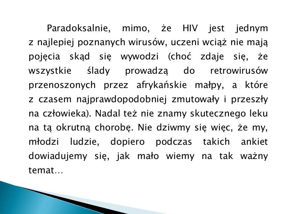 Paradoksalnie, mimo, że HIV jest jednym z najlepiej poznanych wirusów, uczeni wciąż nie mają pojęcia skąd się wywodzi (choć zdaje się, że wszystkie śl